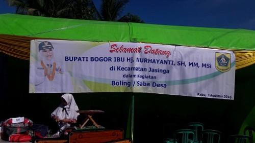Minggon Saba Desa Bupati Bogor di Kecamatan Jasinga